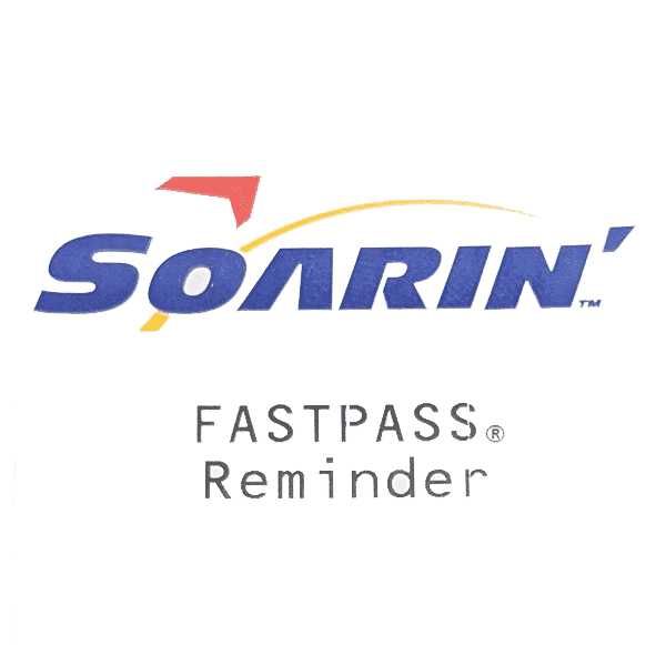 Fastpass paper ticket for Soarin' at Walt Disney World.