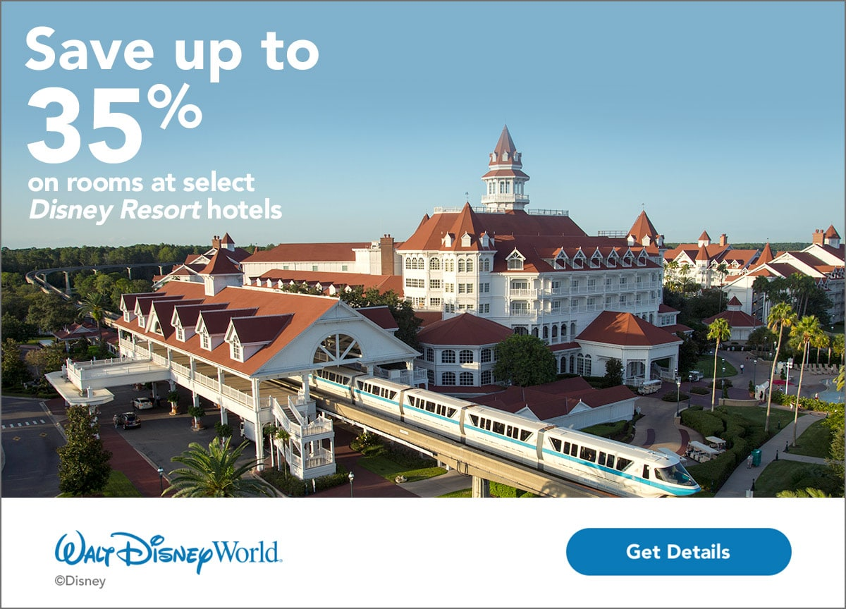 Walt Disney World Promotion - Save up to 35% on rooms at select Walt Disney World Resort hotels
