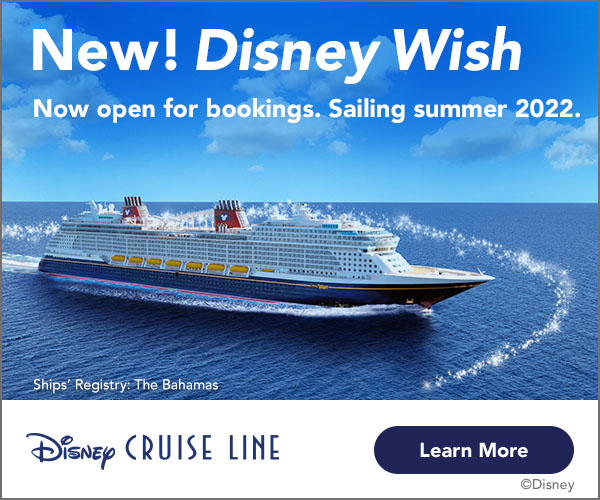 Sailing Summer 2022 the Disney Wish is now open for bookings.